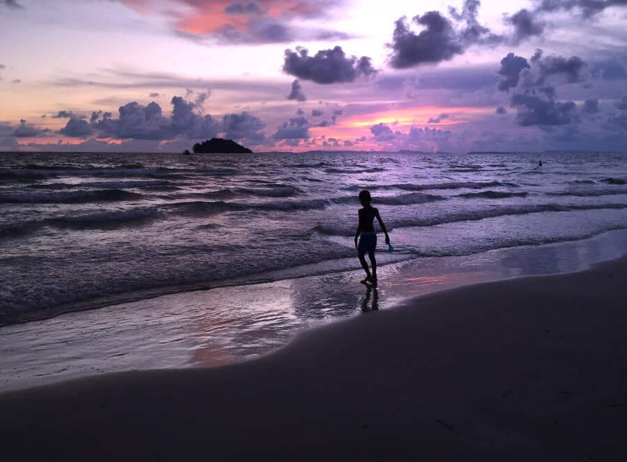 Tramonto a Otres beach