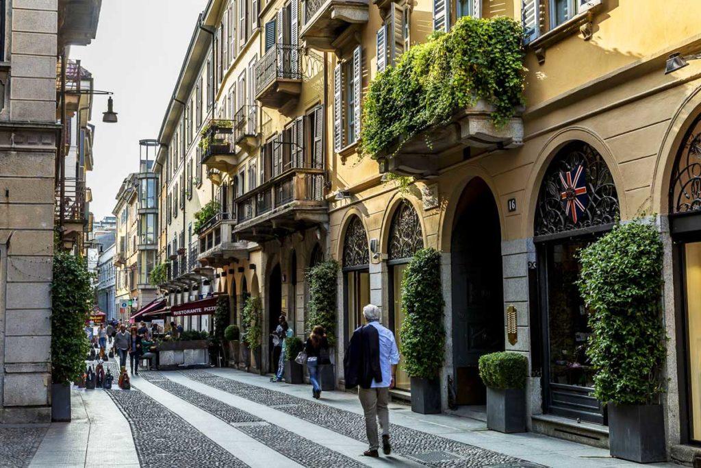 Il quartiere di Brera a Milano