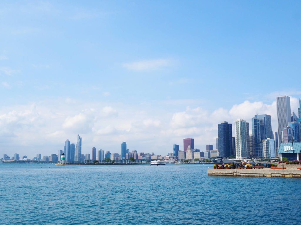 Skyline di Chicago dal Navy Pier